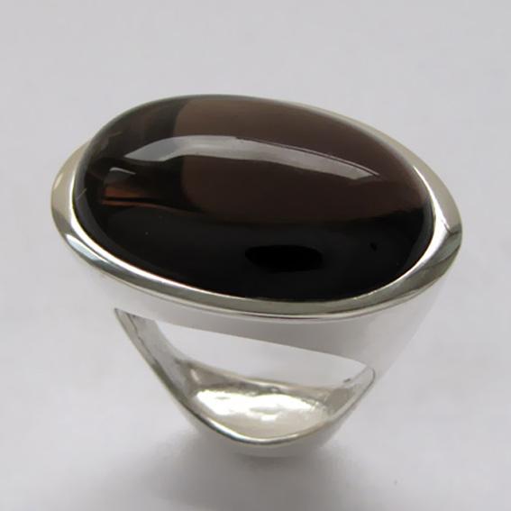 Кольцо с раухтопазом ЭСО3