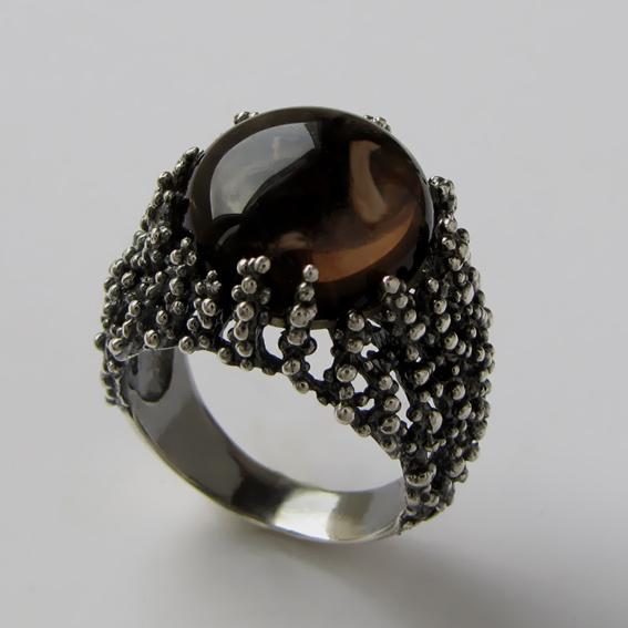 Кольцо с раухтопазом, арт.ГАУ3