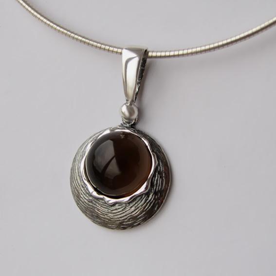 Кулон из серебра с раухтопазом, арт. КЧ112Н