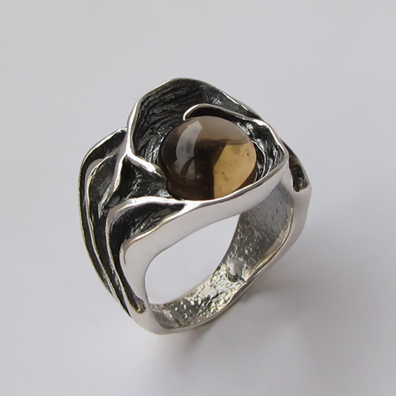 Кольцо с раухтопазом, арт.ИЗР3