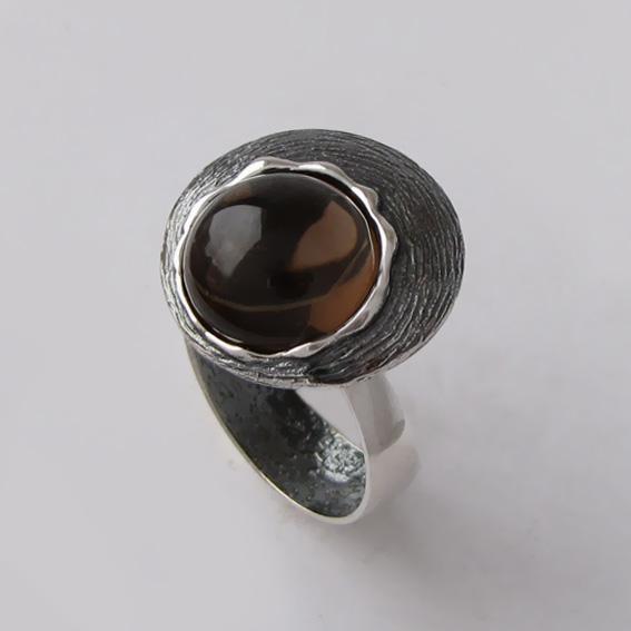 Кольцо с раухтопазом, арт. КЧ3Н