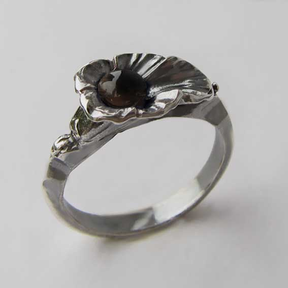 Кольцо с раухтопазом, арт. ЛИС35