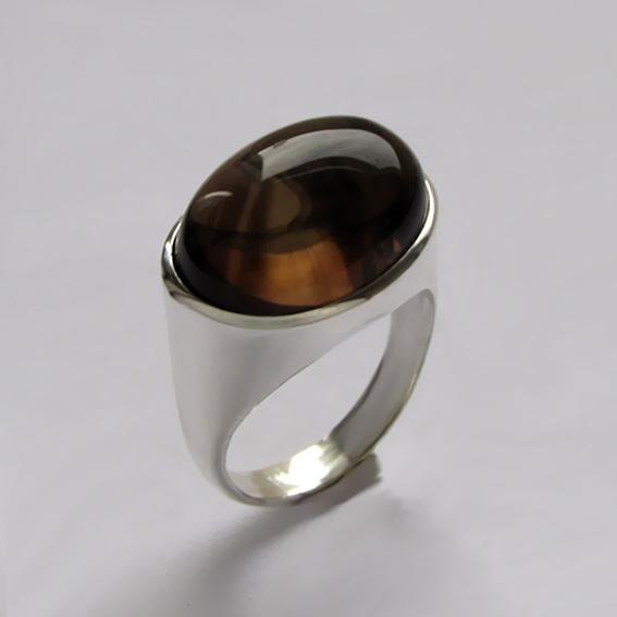 Кольцо с раухтопазом, арт.ВОВ313
