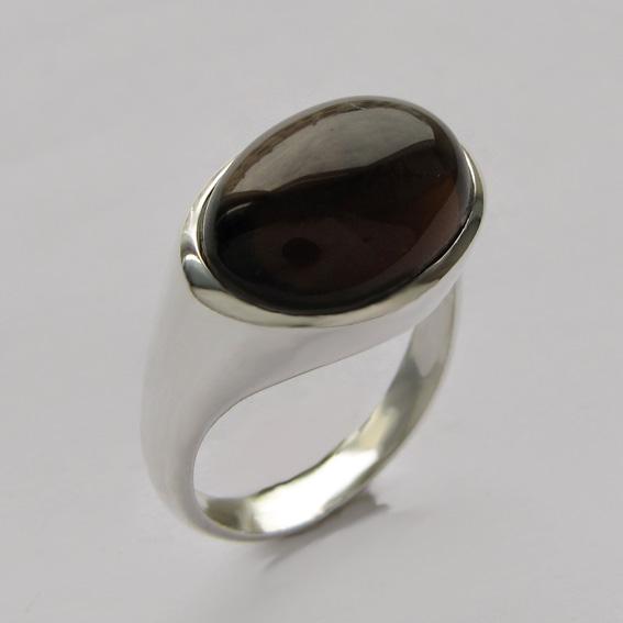 Кольцо с раухтопазом, арт.КОВ312