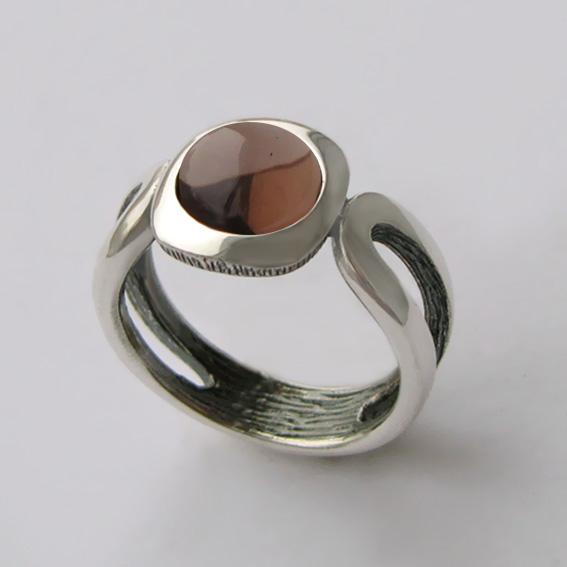 Кольцо с раухтопазом, арт. ЛСП3