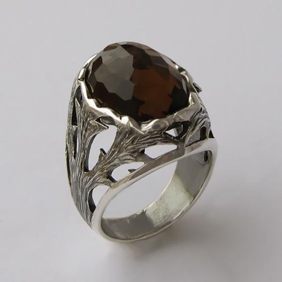 Кольцо с раухтопазом, арт.ЛИН312Г