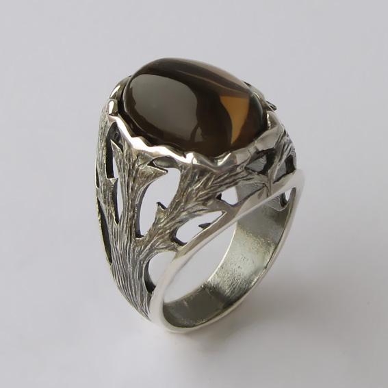 Кольцо с раухтопазом, арт.ЛИН312