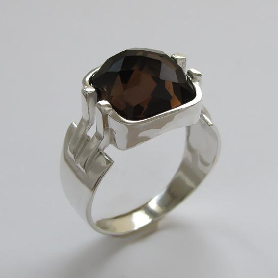 Кольцо с раухтопазом, арт.МПГ3