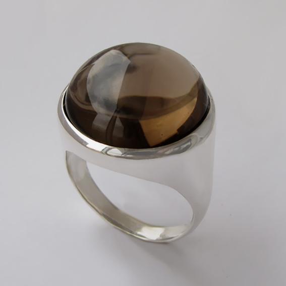 Серебряное кольцо с раухтопазом, арт.НКН318