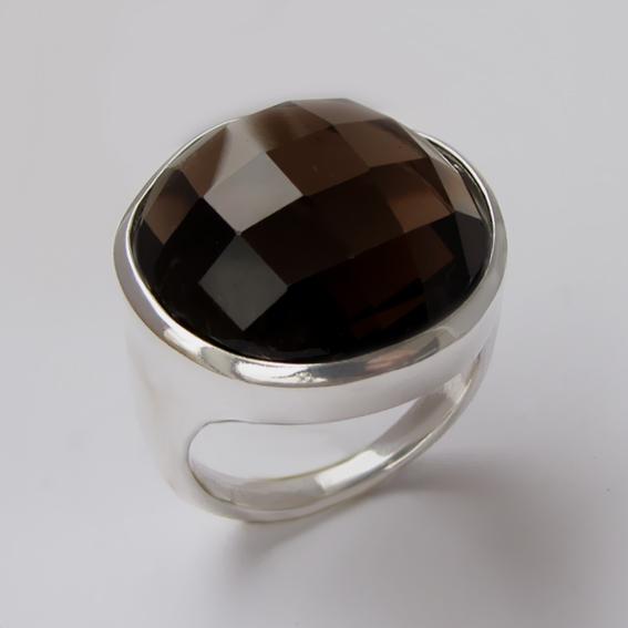 Кольцо с раухтопазом, арт.НКНГ320