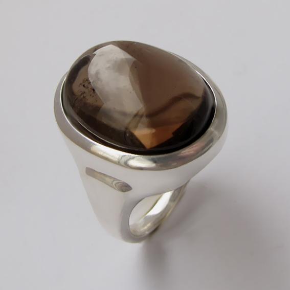 Кольцо с раухтопазом, арт. ОВН315