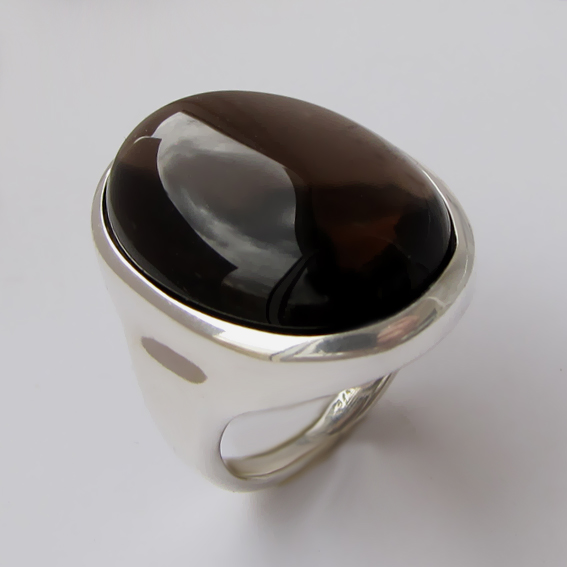 Кольцо с раухтопазом, арт. ОВН318