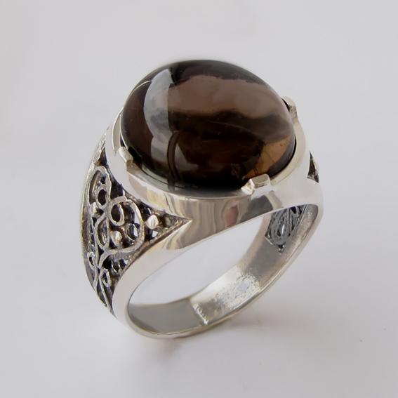 Кольцо с раухтопазом, арт.ПЕР315