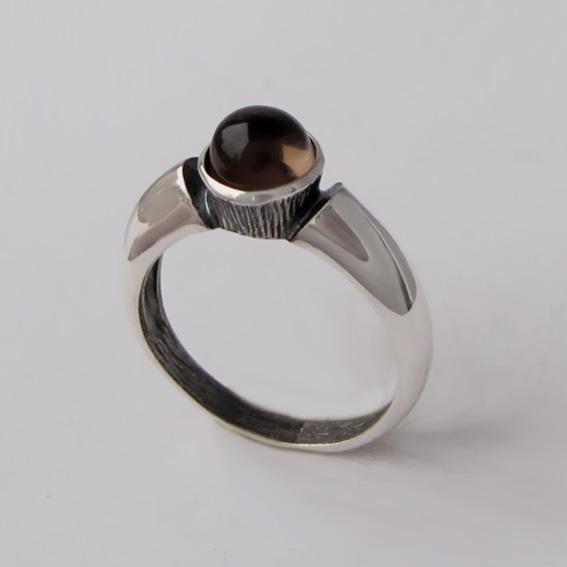 Кольцо с раухтопазом, арт. ПФ36