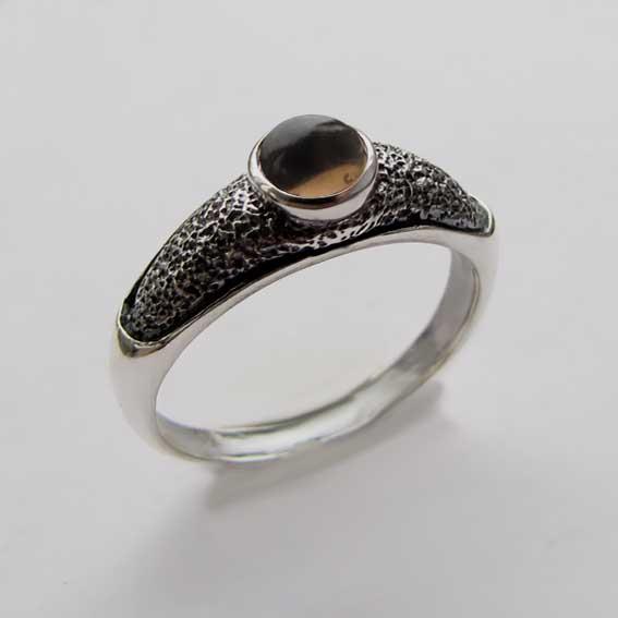 Кольцо с раухтопазом, арт. ПФ35