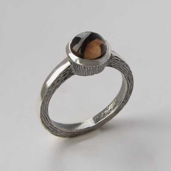 Кольцо с раухтопазом, арт. ПФ38