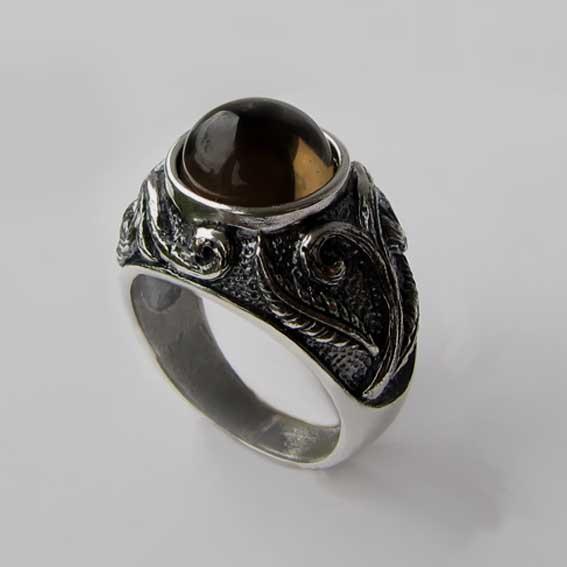 Кольцо с раухтопазом, арт. ШАХ3М