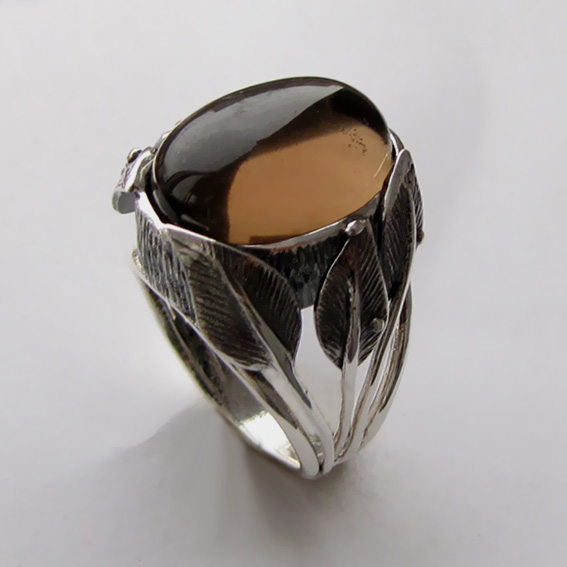 Кольцо с раухтопазом, арт.ВЕТ3