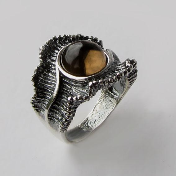 Кольцо с раухтопазом, арт. ВОЛ32