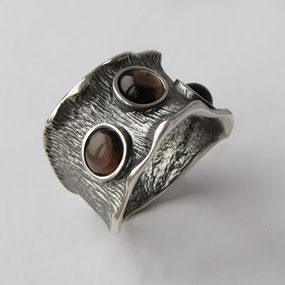 Кольцо с раухтопазом, арт. ВОЛ36