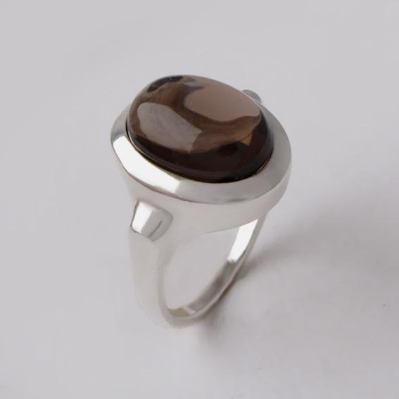 Кольцо с раухтопазом, арт.ЗЕ310