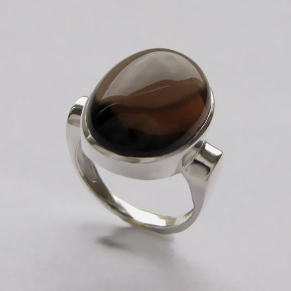 Кольцо с раухтопазом, арт.ЗЕ3