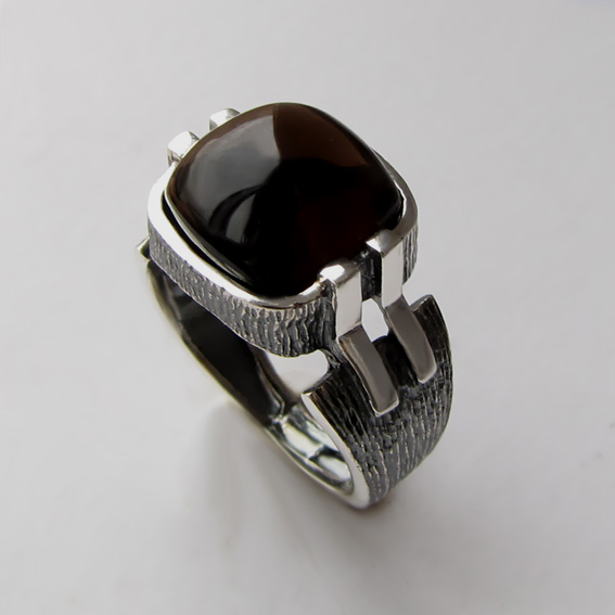 Кольцо с раухтопазом, арт.МП3