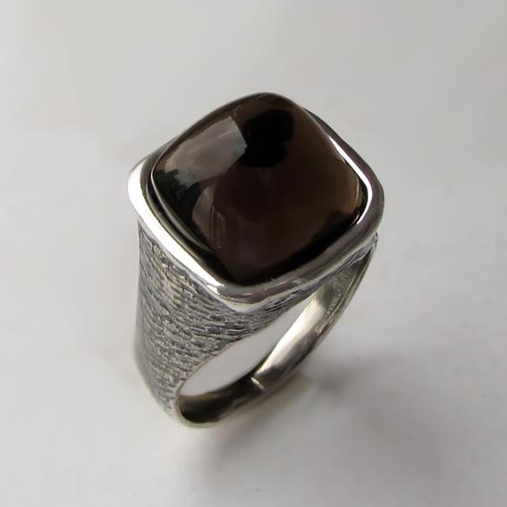 Кольцо с раухтопазом, арт. ПЕКВ312
