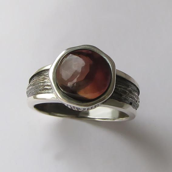 Кольцо с раухтопазом, арт. ПФ39