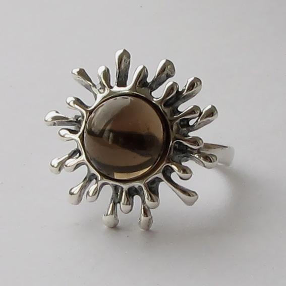 Кольцо с раухтопазом, арт. СЧ3