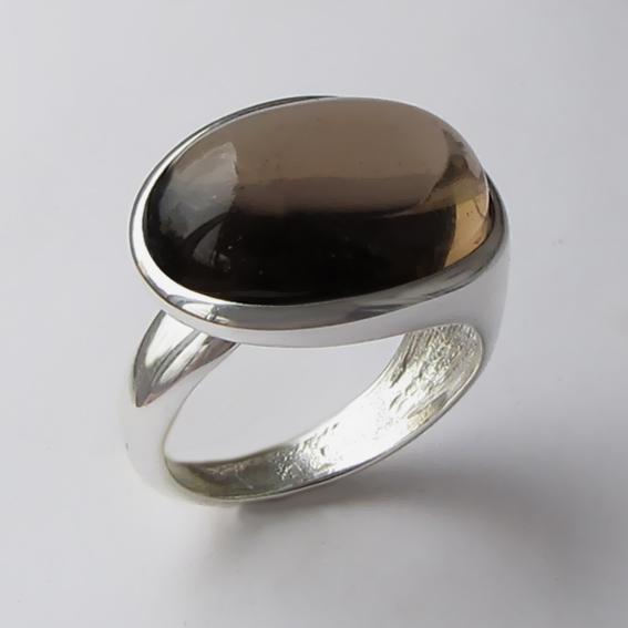 Кольцо с раухтопазом, арт. ВОВБ313