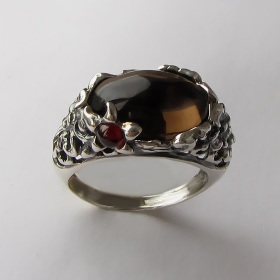 Кольцо с раухтопазом, арт. ВЯ3