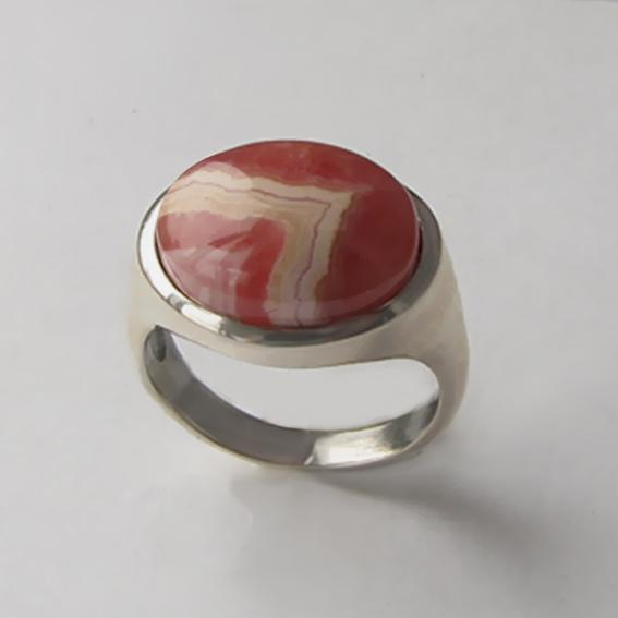 Кольцо с родохрозитом, арт. КОВ312
