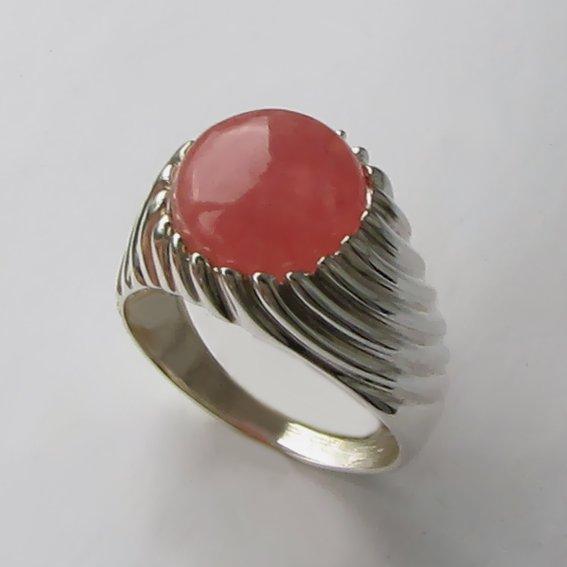 Кольцо с родохрозитом, арт. ЭТК3