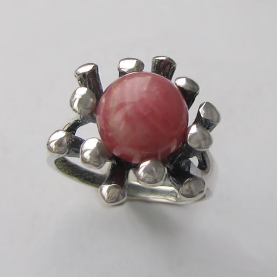 Кольцо с родохрозитом, арт. Р3