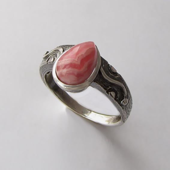 Кольцо с родохрозитом, арт. СЛЧ37