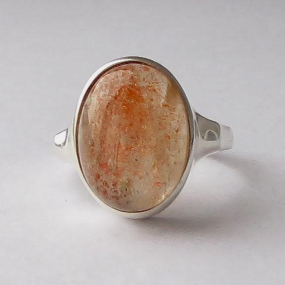 Кольцо с кварцем с включениями гематита, ЗЕ312