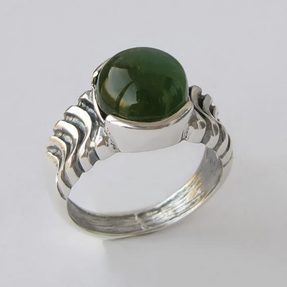 Кольцо с турмалином зеленым, арт. ЧЕШ3