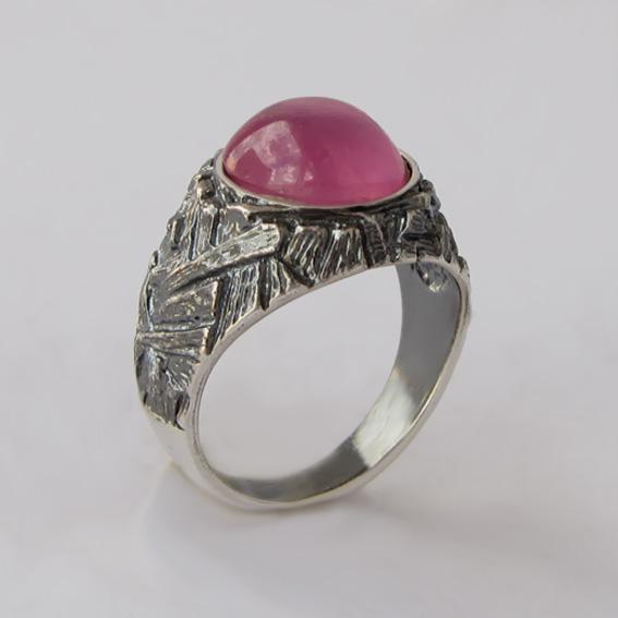 Кольцо с турмалином розовым, арт.ЭТ3