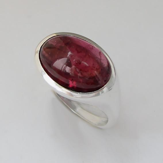 Кольцо с турмалином красным, арт.КОВ312
