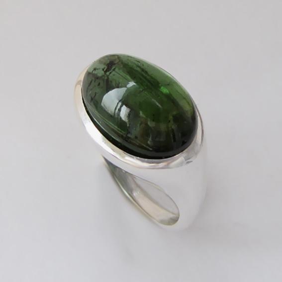 Кольцо с турмалином зеленым, арт. ВОВ312