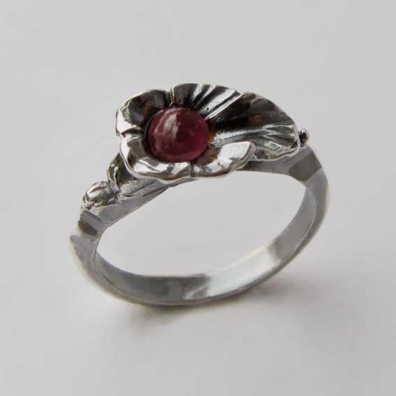 Кольцо с турмалином розовым, арт. ЛИС35