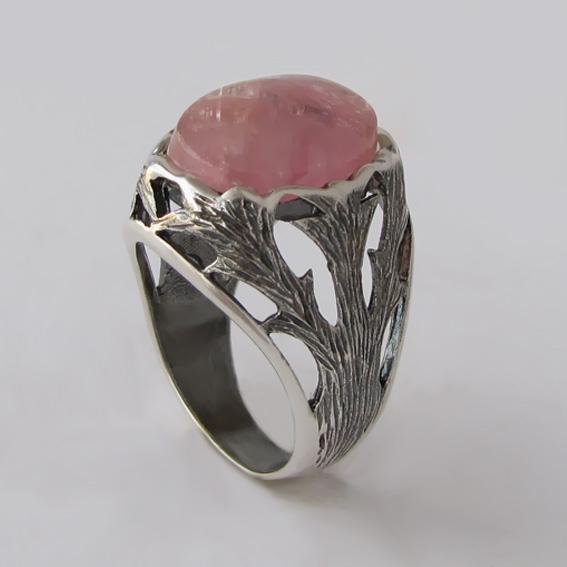 Кольцо с турмалином красным, арт.ЛИН312