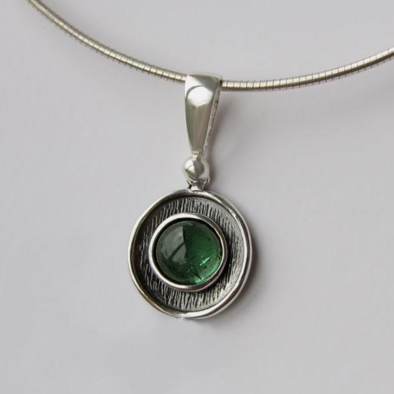 Кулон с турмалином зеленым, арт.МСБ1