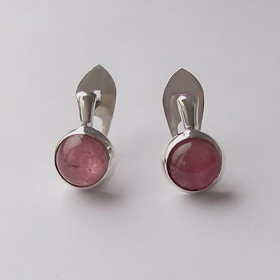 Серьги с турмалином розовым, арт. НЗ4П