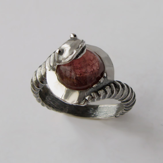 Кольцо с турмалином, арт. ОНО3