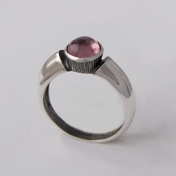 Кольцо с турмалином розовым, арт. ПФ36