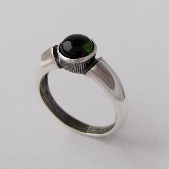 Кольцо с турмалином зеленым, арт.ПФ36