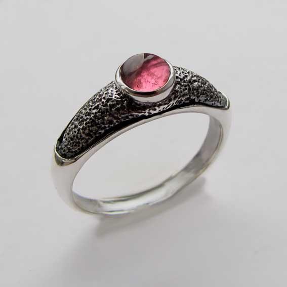 Кольцо с турмалином розовым, арт.ПФ35