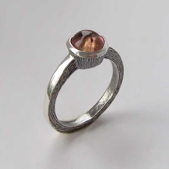 Кольцо с турмалином розовым, арт.ПФ38